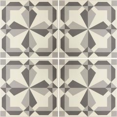 Odyssey Lewtrenchard Light Grey & Dark Grey on Chalk, pattern repeat