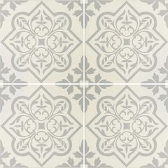 Odyssey Pentillie Light Grey on Chalk, pattern repeat