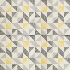 Odyssey Saltram Yellow & Black on Chalk, pattern repeat