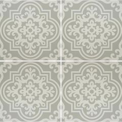 Odyssey Vogue White on Grey, pattern repeat