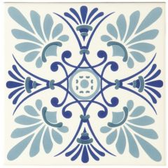 Odyssey Blue Tapestry Orleans Blue 15.2 x 15.2cm
