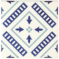 Odyssey Blue Tapestry Vannerie Blue 15.2 x 15.2cm
