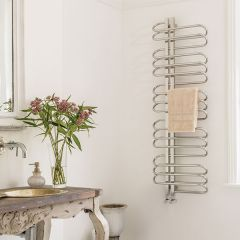 Bisque Orbit Towel Radiator