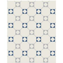 Original Style Arundel 3 Colour Pattern (White/Blue/Pugin Blue)