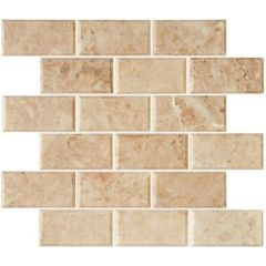 Original Style Bellano Bevel Brickbond Polished Marble
