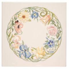 Original Style Bouquet de Fleurs Ring of Flowers Plaque 30 x 30cm