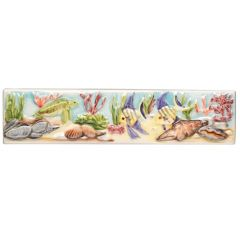 Original Style Coral Reef Turtle & Angel Fish Border