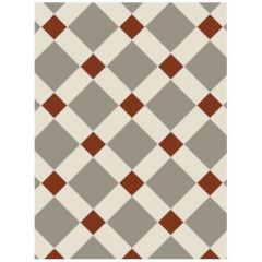 Original Style Falkirk Pattern (Holkham Dune, White & Red)