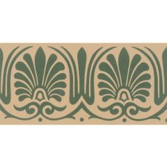 Original Style Faraday Border Green on Buff