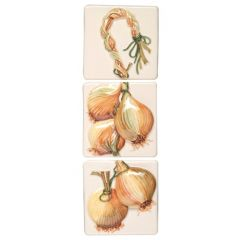 Original Style Legumes de Saison String of Onions 3 Tile Set