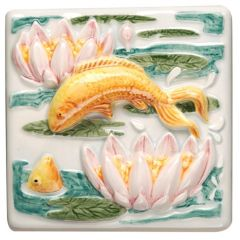 Original Style Lily Pond Leaping Fish