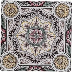 Original Style Symmetrical Floral Pattern Single Decor Tile