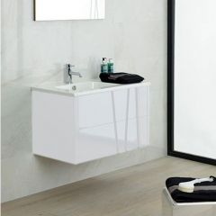 Porcelanosa Bambu Blanco Brillo Vanity Unit 80cm