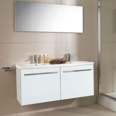Porcelanosa City Blanco Wash Basin Unit 120cm