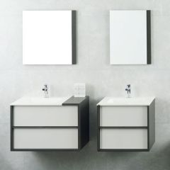 Porcelanosa Folk Blanco Wall Mounted Wash Basin Units