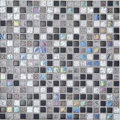 Porcelanosa Imperia Mix Silver Blacks 30 x 30cm