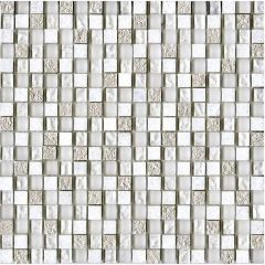Porcelanosa Imperia Mix Silver White 30 x 30cm