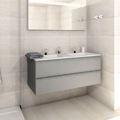 Porcelanosa Next Grafito Brillo Wash Basin Unit 120cm