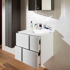 Porcelanosa Travat Blanco Wall Mounted Wash Basin Unit