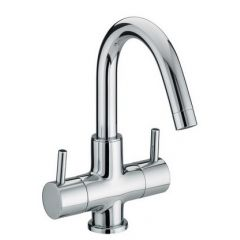 Bristan Prism 2 Handle Basin Mixer Tap (no waste)