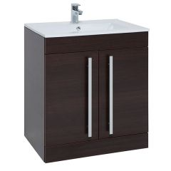 Purity Brown 750mm Floor Standing Door Unit With Basin