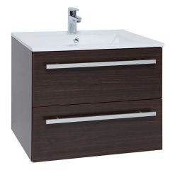 Purity Brown 750mm Wall Mounted Drawer Unit With Basin