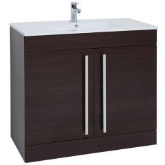 Purity Brown 900mm Door Unit With Basin