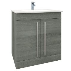 Purity Grey Ash 750mm Floor Standing Door Unit With Basin