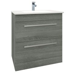 Purity Grey Ash 750mm Floor Standing Drawer Unit With Basin