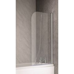 QX 6mm Plain Curved Bath Screen 1300 x 700mm