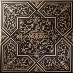 Rabat Gold on Black Decor Tile 20 x 20cm