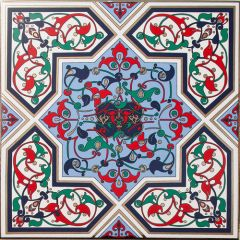 Rabat Floral Decor Tile 20 x 20cm