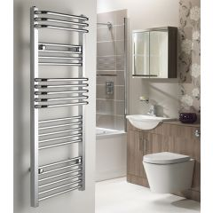 Royal Bajan Flat/Curved Chrome Towel Rail