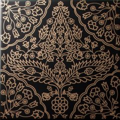 Safi Gold on Black Decor Tile 20 x 20cm