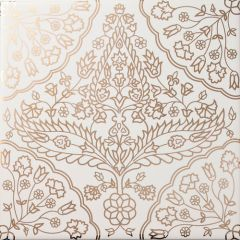 Safi Gold on White Decor Tile 20 x 20cm