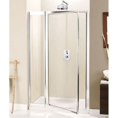 Simpsons Supreme Pivot Shower Door With Inline Panel