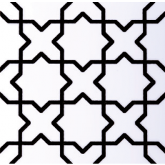 V&A Souk Decor Black & White 15.2 x 15.2cm