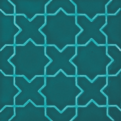 V&A Souk Decor Teal 15.2 x 15.2cm