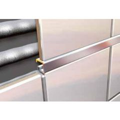 Square Listello Tile Trim Chrome 2.5m