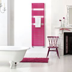 Bisque Straight Fronted Towel Radiator, strawberry
