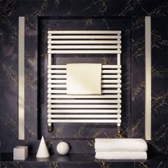Bisque Straight Fronted Towel Radiator