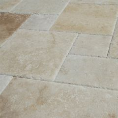 Travertine French Pattern Chipped Edge