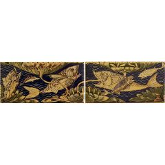 V&A Fish Panel Set 2 Decor 15.2 x 7.6cm