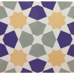 V&A Omar Floor Tile Multicolour 33.1 x 33.11 cm