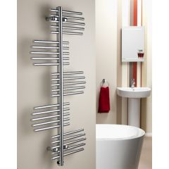 Virgo Flat Chrome Towel Rail
