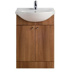 Vista Walnut 550mm Vanity Unit with Basin