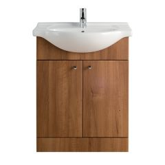 Vista Walnut 650mm Vanity Unit with Basin