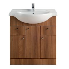 Vista Walnut 750mm Vanity Unit with Basin
