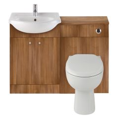 Vista Walnut WC & Vanity Unit with Basin