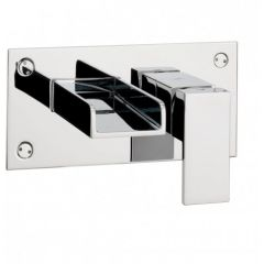 Water Square Wall Mounted Basin Tap 2 Hole Set